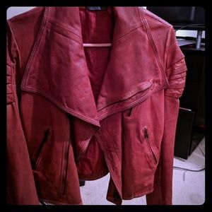 Blur Women's Handmade Italian Leather Jacket